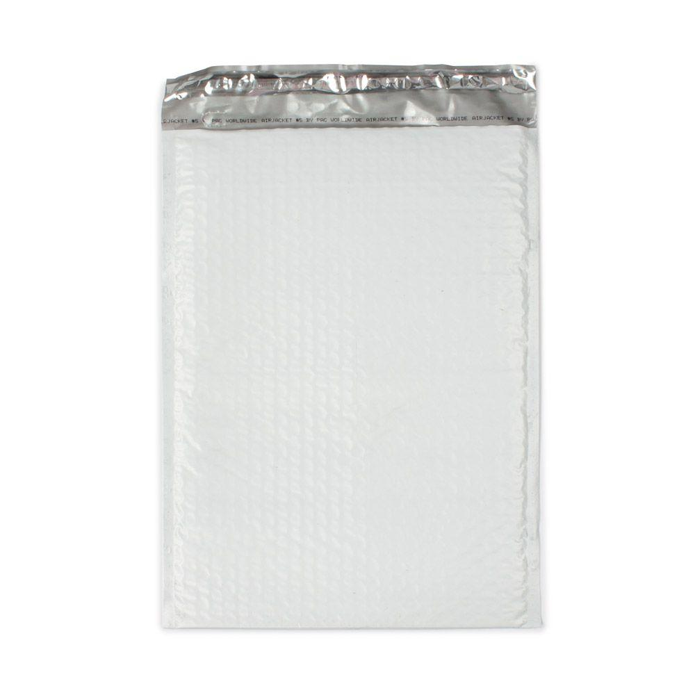 pratt retail specialties 105 in x 1525 in white poly bubble mailers with adhesive