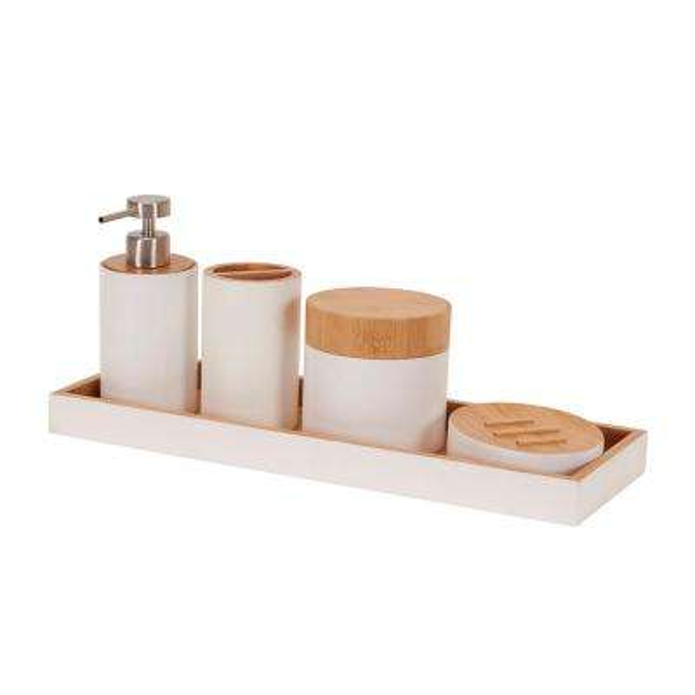 Elements 5-Piece Bath Vanity Accessory Set