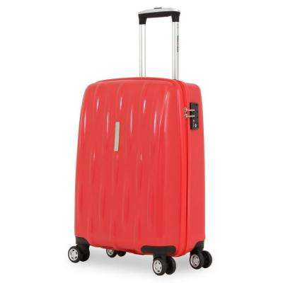 20 in. Upright Hardside Spinner Suitcase in Red
