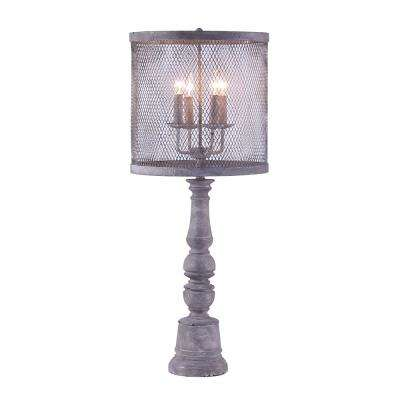 39 in. Gray Table Lamp