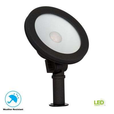 Low-Voltage 50-Watt Equivalent Black Outdoor Integrated LED Landscape Wall Wash Light