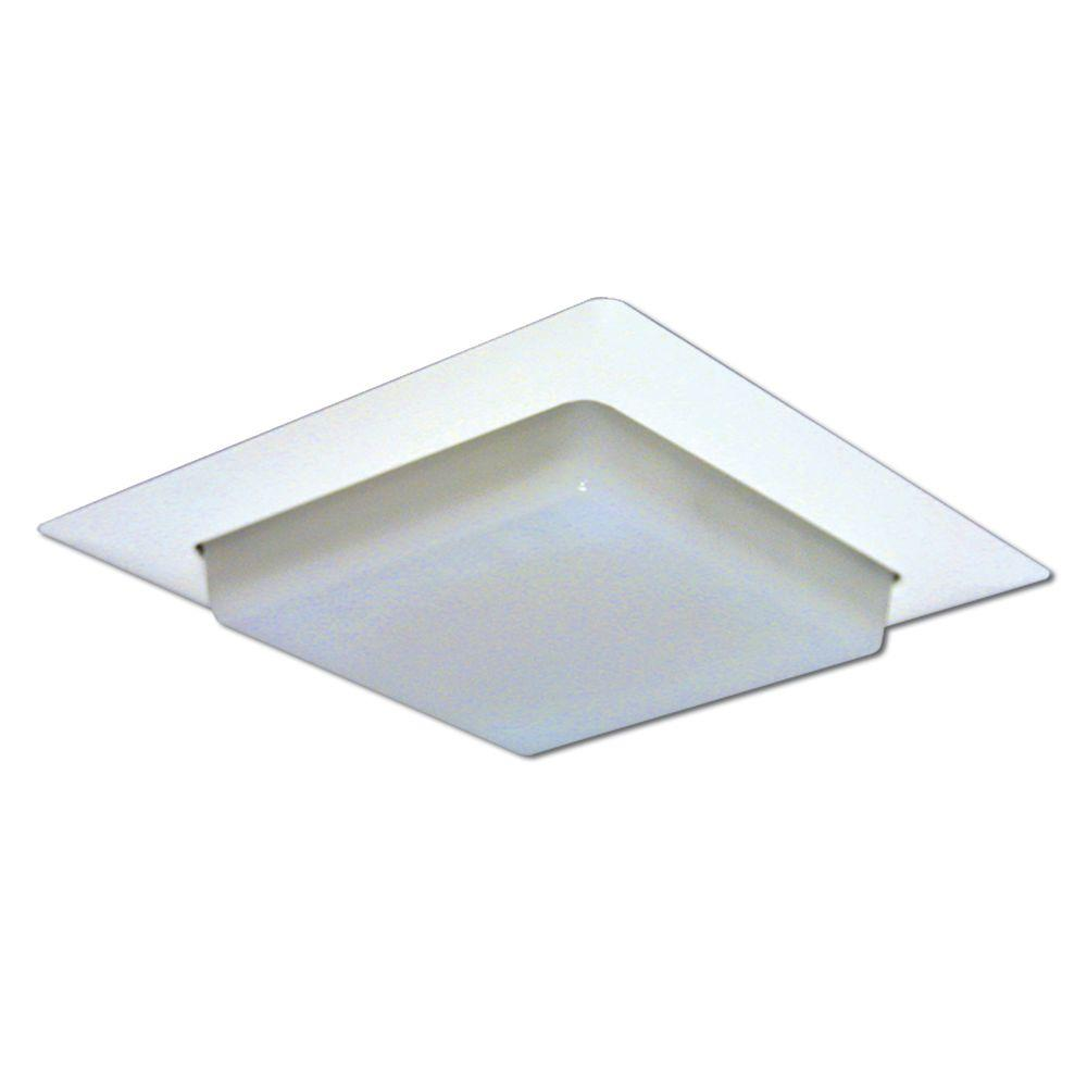 Halo 8 In White Recessed Ceiling Light Square Trim With