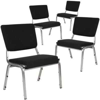 Black Fabric Bariatric Fabric Side Chair (Set of 4)