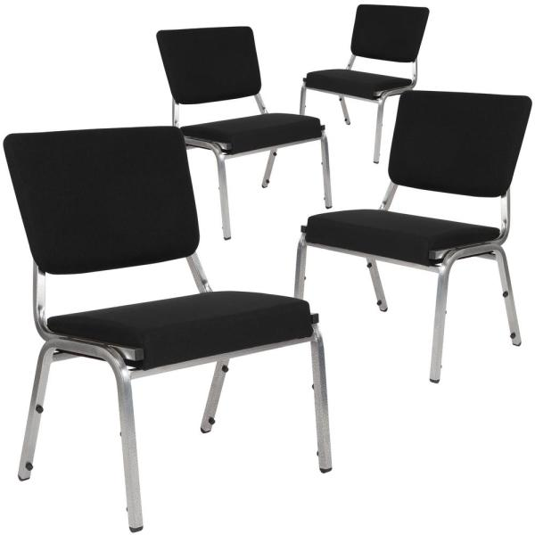 Carnegy Avenue Black Fabric Bariatric Fabric Side Chair (Set of 4)