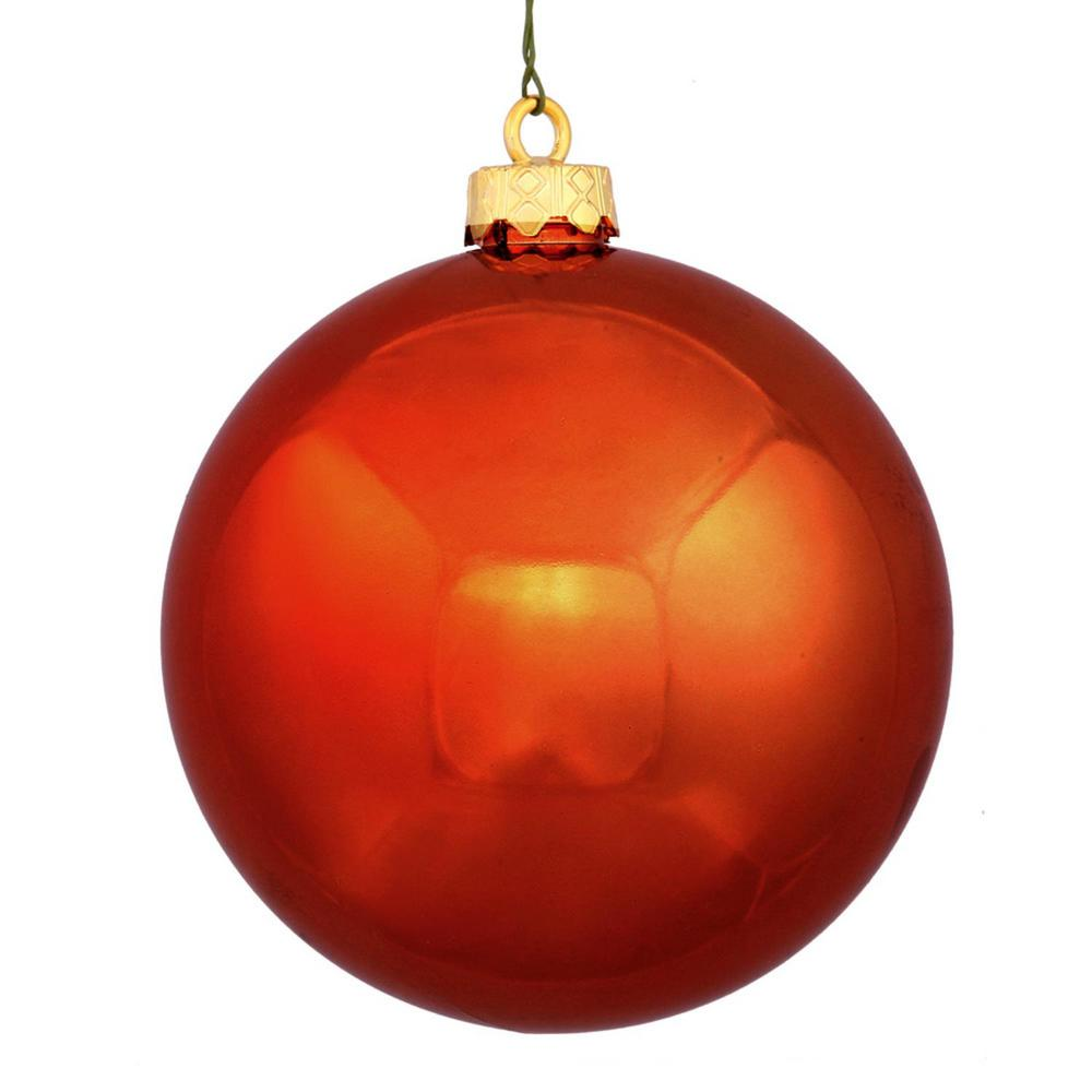 Christmas Ball Ornaments.Northlight Shatterproof Shiny Burnt Orange Uv Resistant Commercial Christmas Ball Ornament