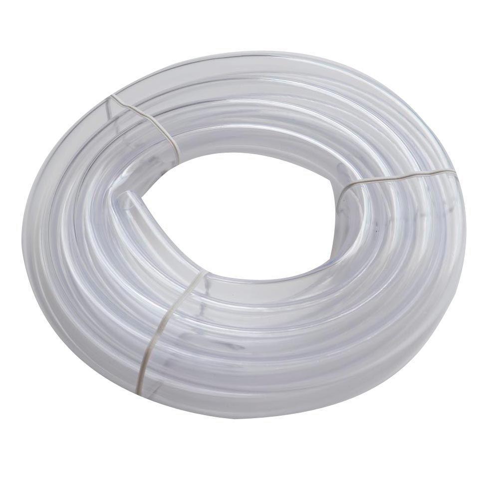 Everbilt 1/2 in. O.D. x 3/8 in. I.D. x 10 ft. PVC Clear Vinyl Tube