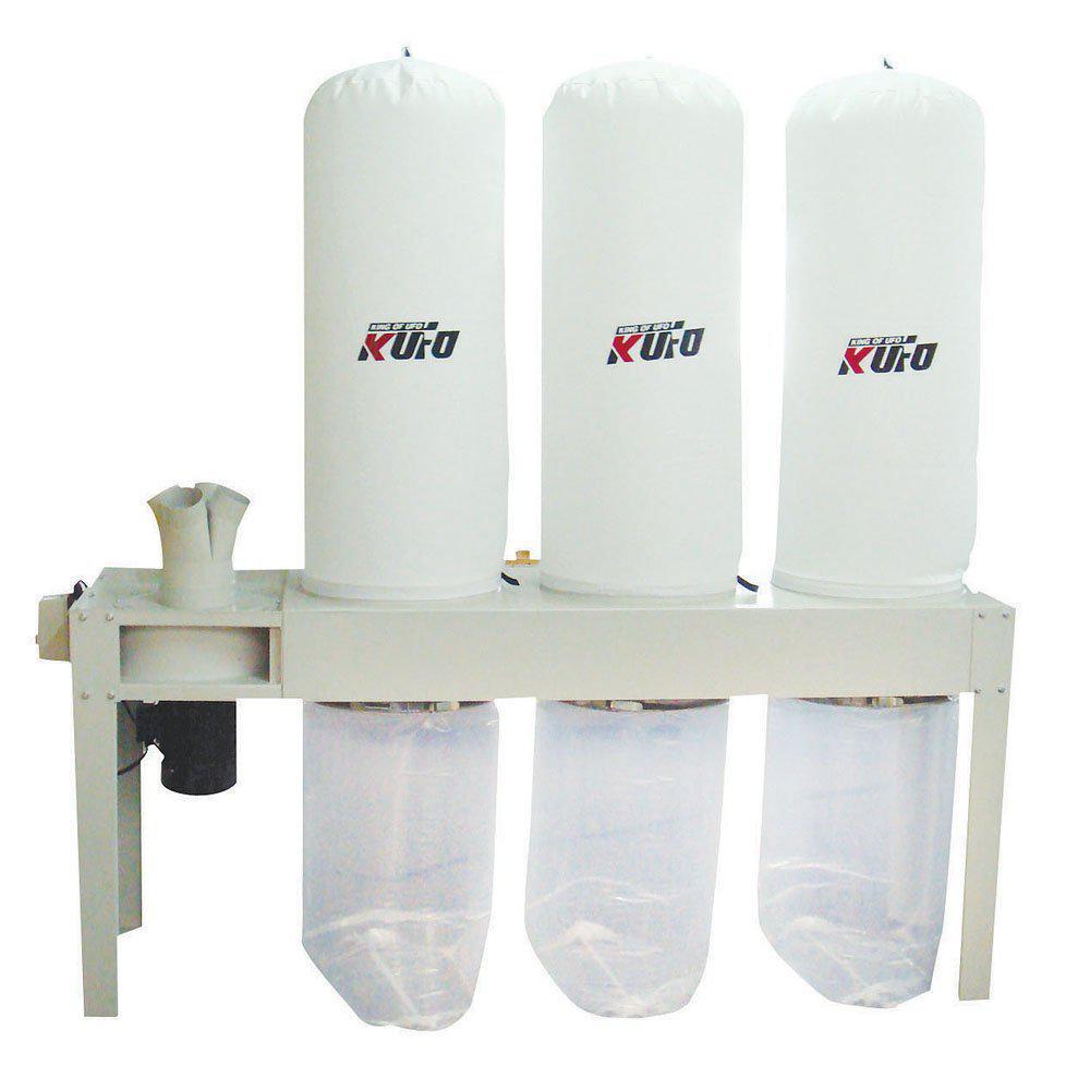 Kufo Seco - 5 HP 3,990 CFM 3-Phase 220-Volt / 440-Volt Vertical Bag Dust Collector (Prewired 220-Volt)