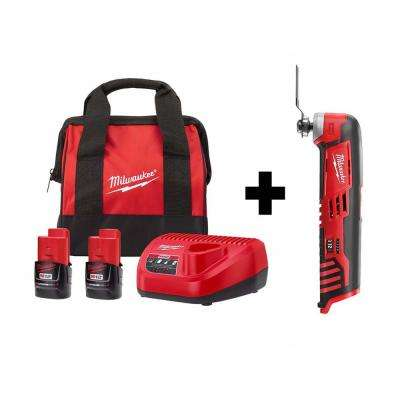 M12 12-Volt Lithium-Ion Cordless Oscillating Multi-Tool Kit W/ Two 2.0 Ah Batteries , Charger & Tool Bag