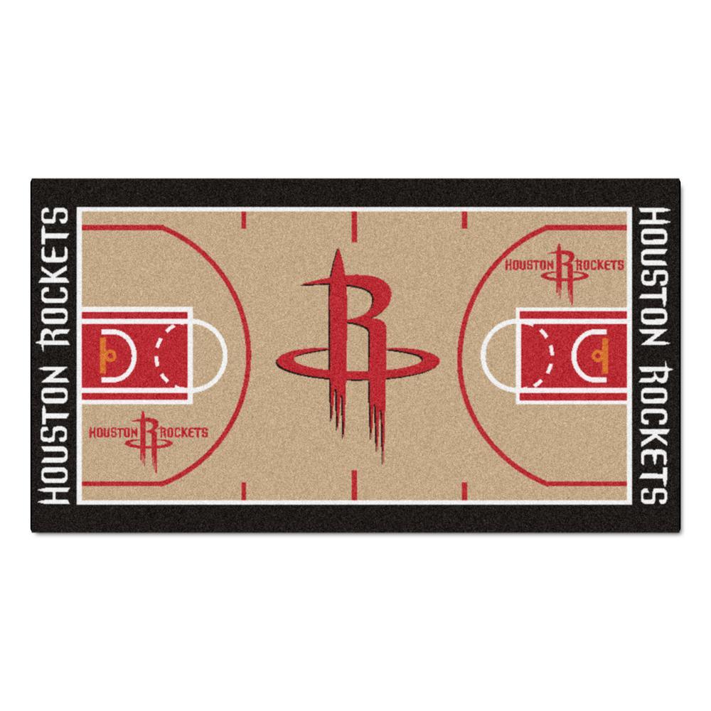 fad9b6e1c94 FANMATS NBA Houston Rockets 3 ft. x 5 ft. Large Court Runner Rug ...