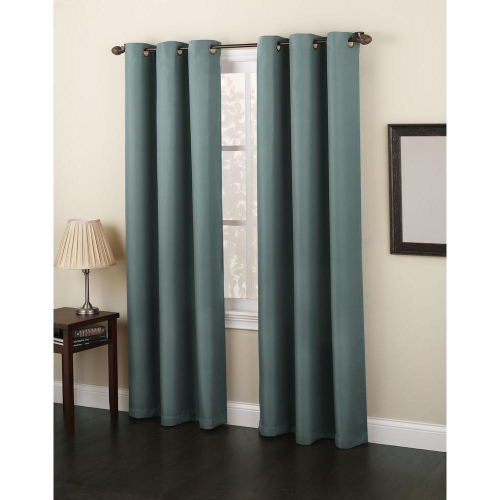 918 Casual Montego Woven Grommet Top Curtain Panel 48 In W X 84 L 36594