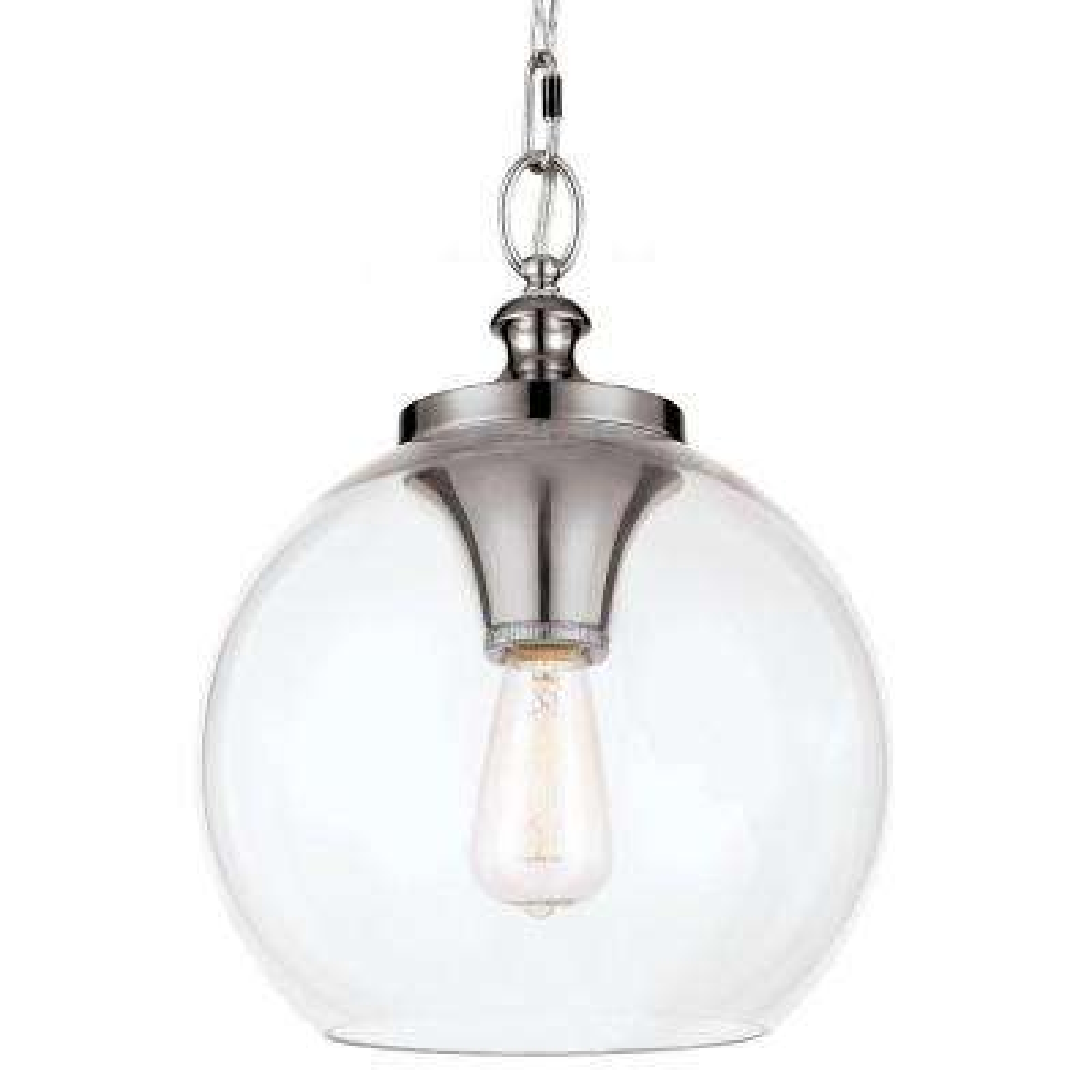 Tabby 1-Light Polished Nickel Pendant