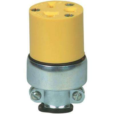 20 Amp 250-Volt 6-20 Commercial Grade Vinyl Armored Connector