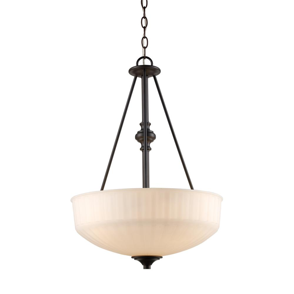 Bel Air Lighting Cahill 3 Light Rubbed Oil Bronze Pendant