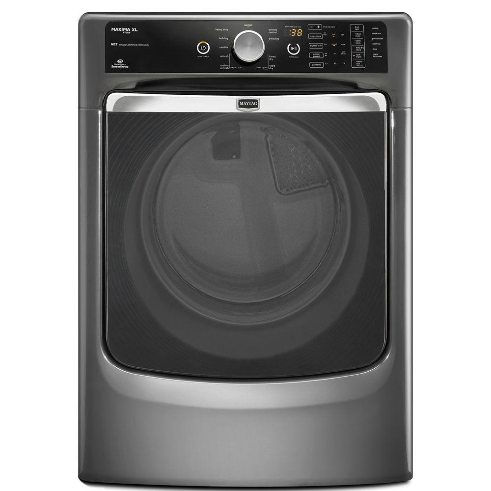 Maytag Maxima XL 7.4 cu. ft. Electric Dryer with Steam in Granite