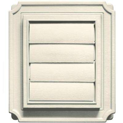 Scalloped Exhaust Siding Vent #082-Linen