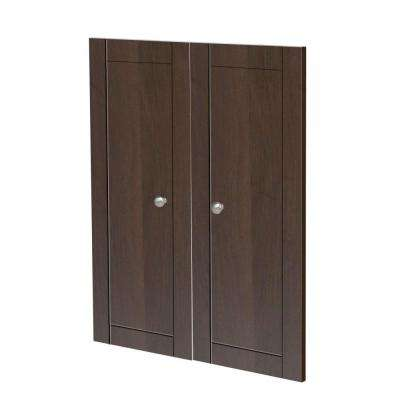 0.63 in. D x 23.5 in. W x 30.25 in. H Decorative Panel Doors Wood Closet System in Mocha