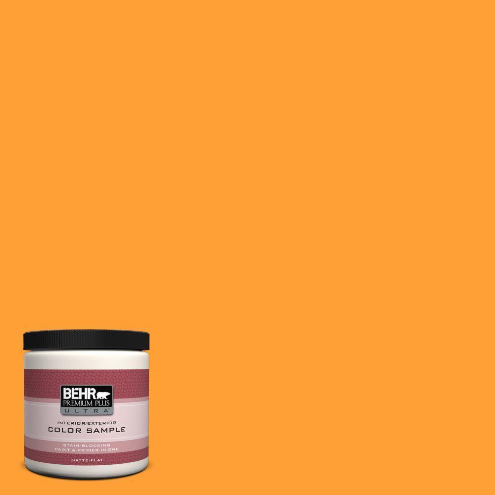 8 oz. #P250-7 Blazing Bonfire Matte Interior/Exterior Paint and Primer in