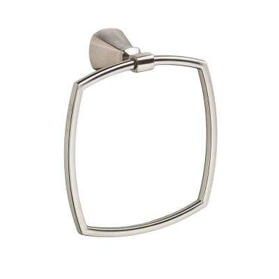 Edgemere Towel Ring in Brushed Nickel