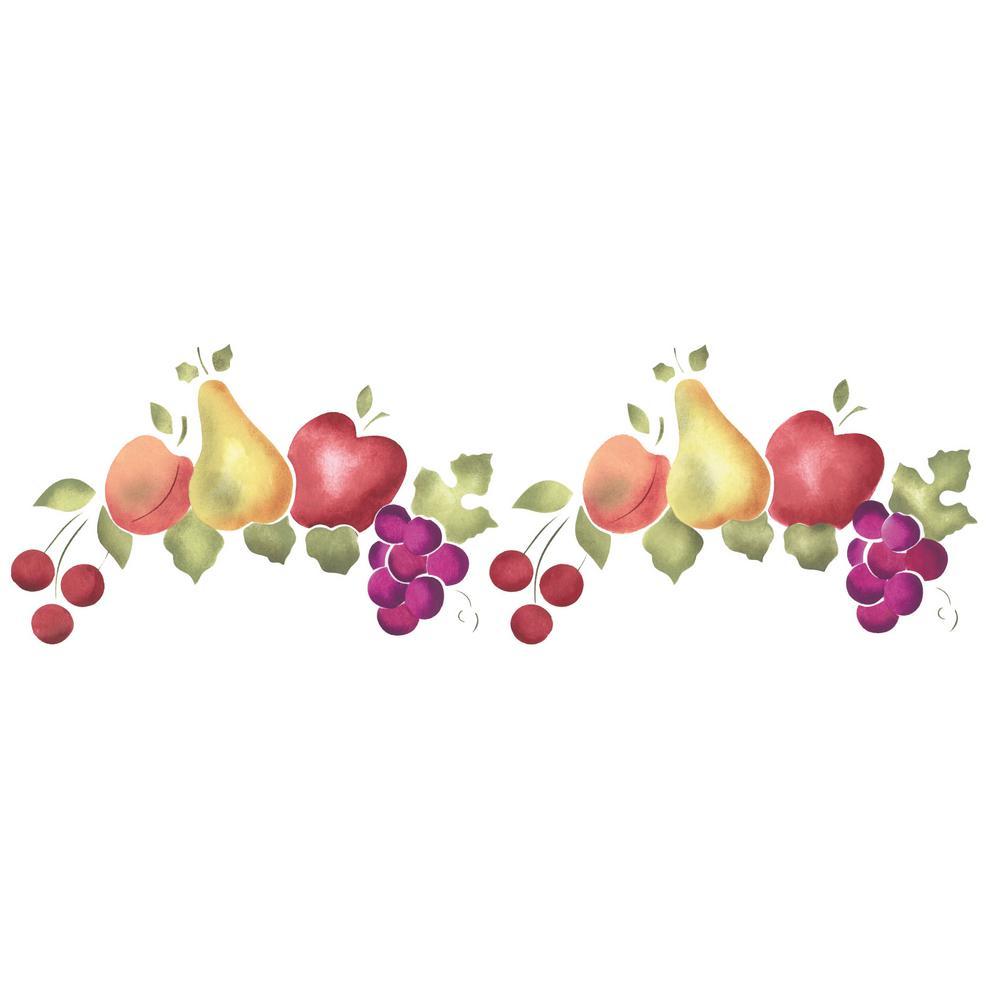 Fruit Wall Stencil