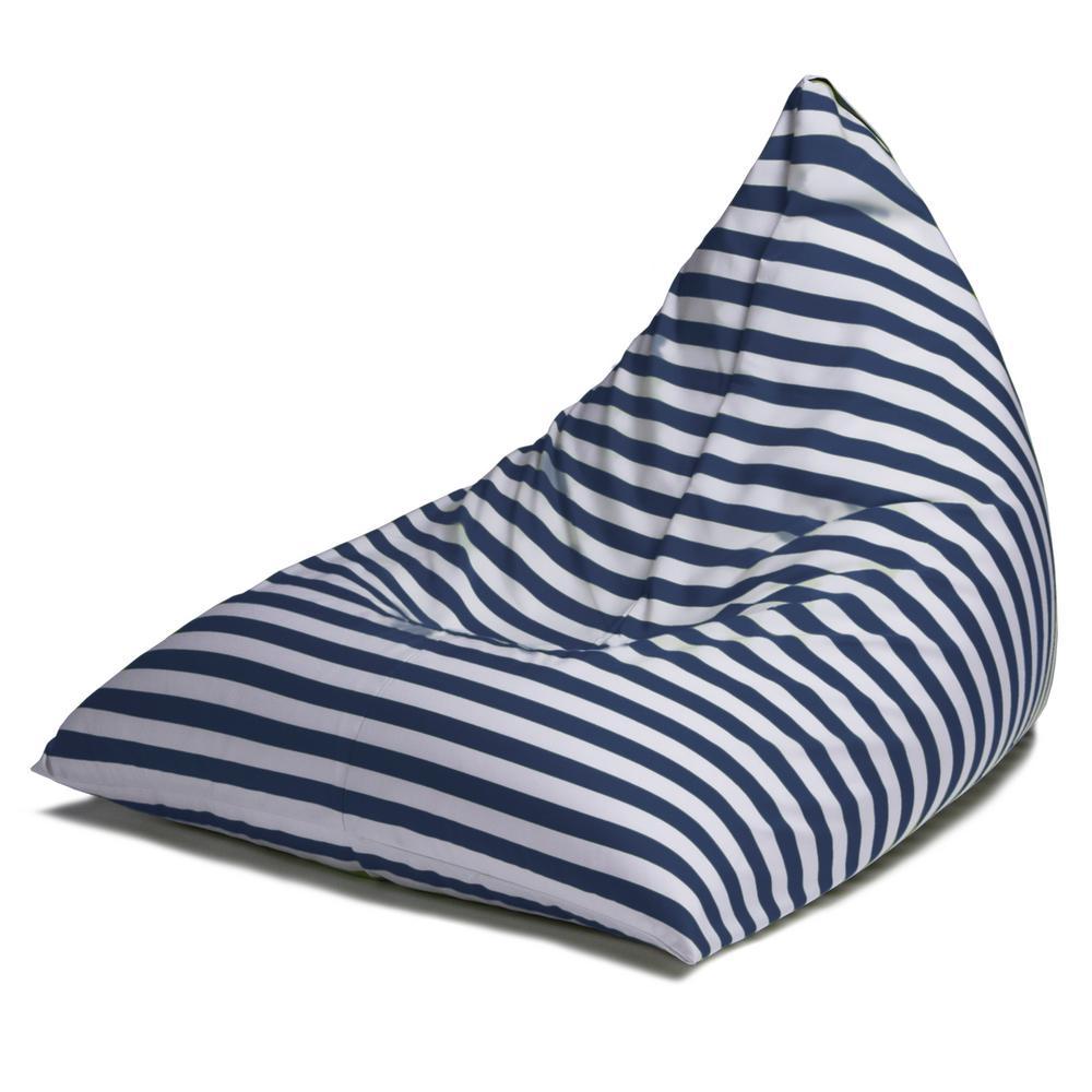 Twist Navy Stripes Outdoor Bean Bag Chair