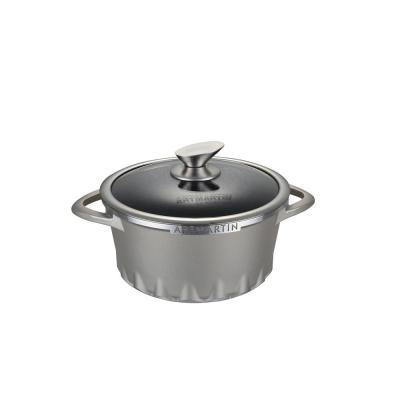 8.7 in ARTMARTIN Non-Stick Ceramic Coated Stockpot and Glass Lid Induction Bottom