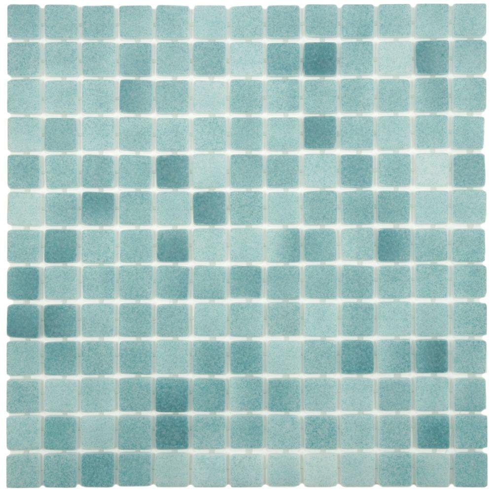 Merola Tile Ruidera Square Niebla Azul Anti Slip 13 In X 5 Mm Gl Mosaic Gtorsnas The Home Depot