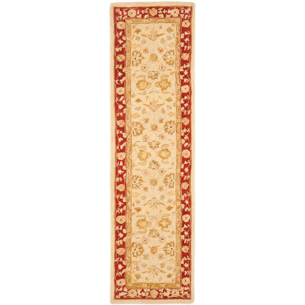 Anatolia Ivory/Red 2 ft. 3 in. x 12 ft. Runner