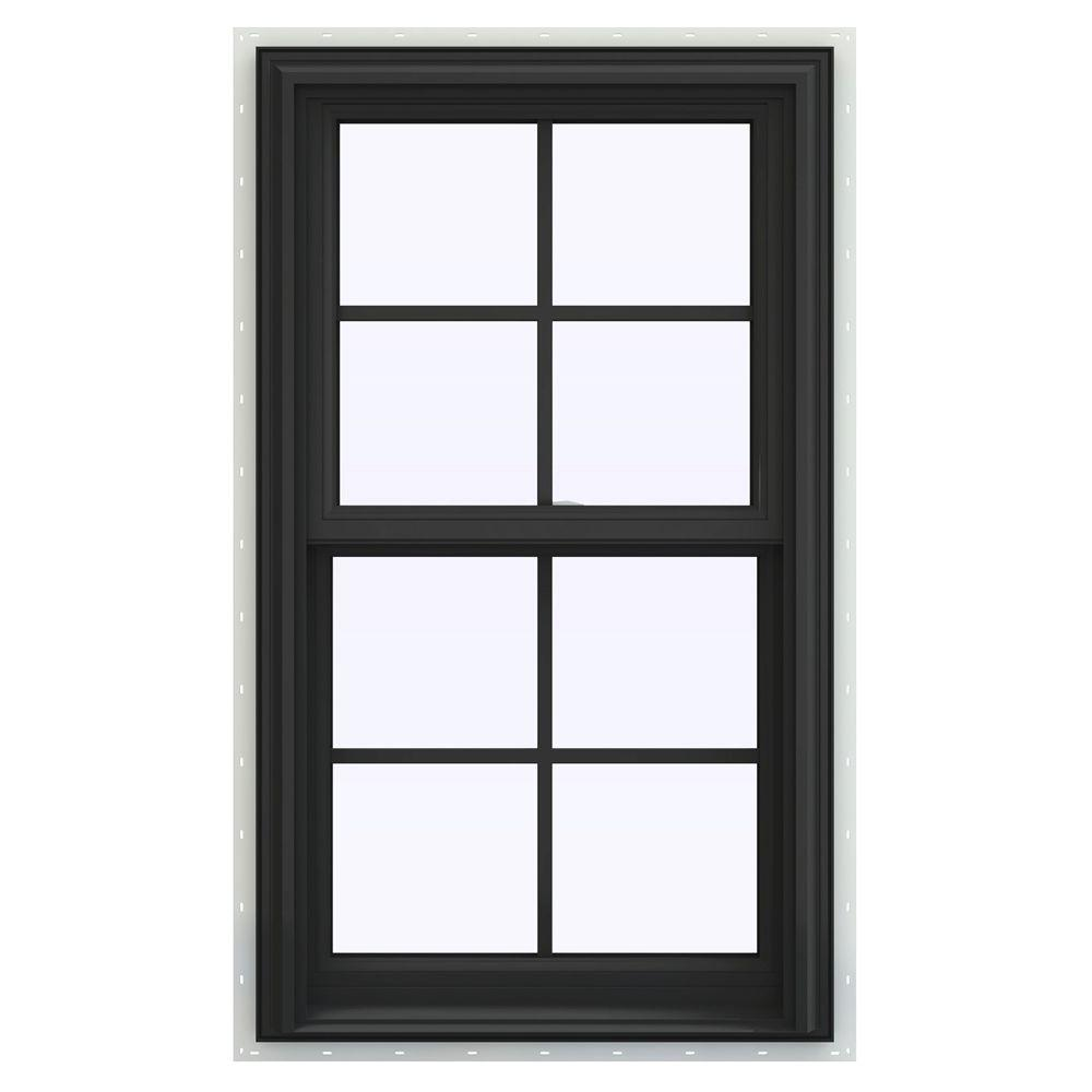 Jeld wen 23 5 in x 40 5 in v 2500 series double hung for Best double hung windows reviews