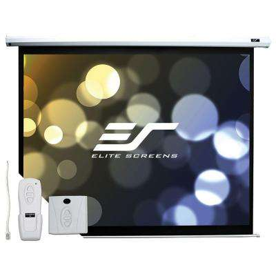 60 in. H x 80 in. W Electric Projection Screen with White Case