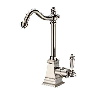 Single Handle Cold Water Dispenser with Traditional Spout in Polished Nickel