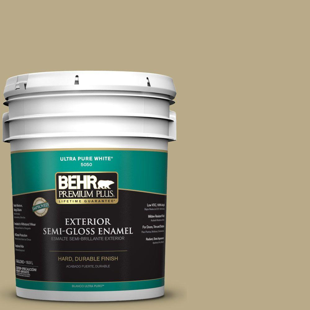 5-gal. #S330-4 Fennell Seed Semi-Gloss Enamel Exterior Paint