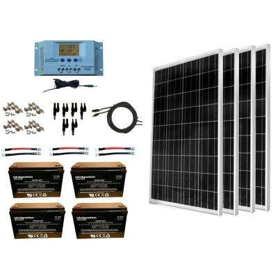 400-Watt Off-Grid Polycrystalline Solar Panel Kit with 12-Volt AGM Deep Cycle Battery