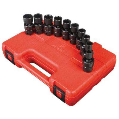3/8 in. Drive Universal Impact Socket Set (10-Piece)