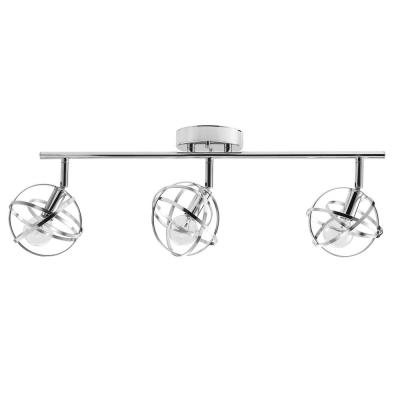 Tatum 3-Light Chrome Incandescent/LED Compatible Track Lighting Kit