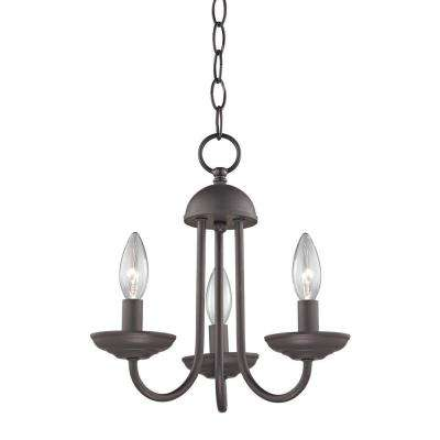 Williamsport 3-Light Oil-Rubbed Bronze Mini Chandelier