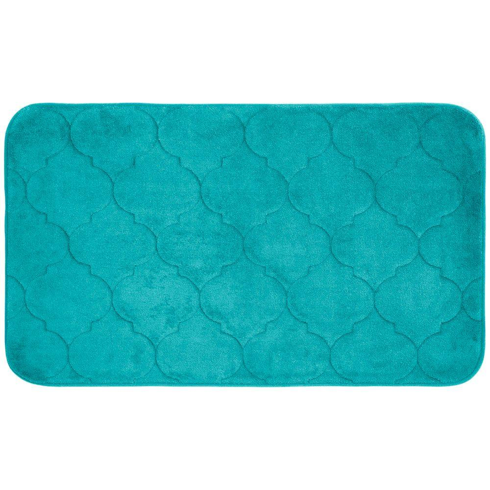 Bouncecomfort Faymore Turquoise 20 In X 34 In Memory