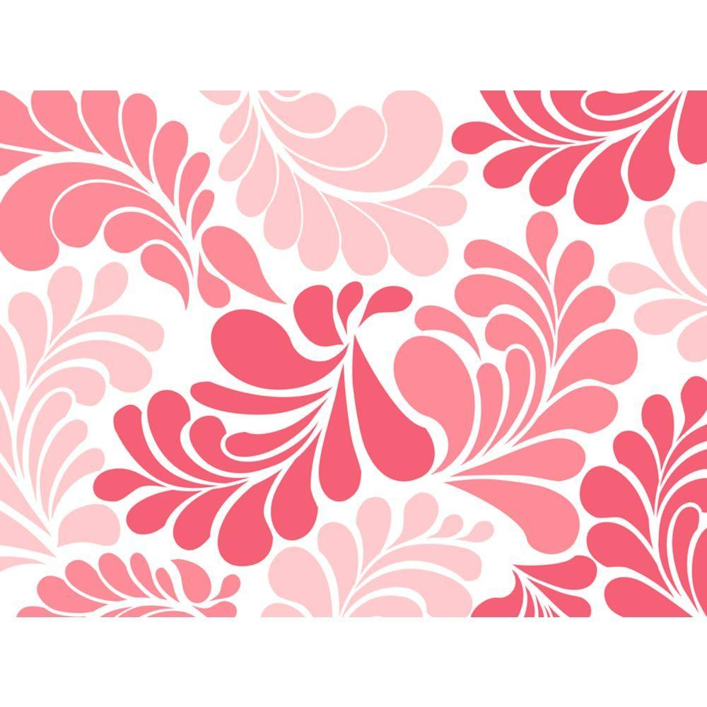 Coral Floral Adhesive Shelf Liner