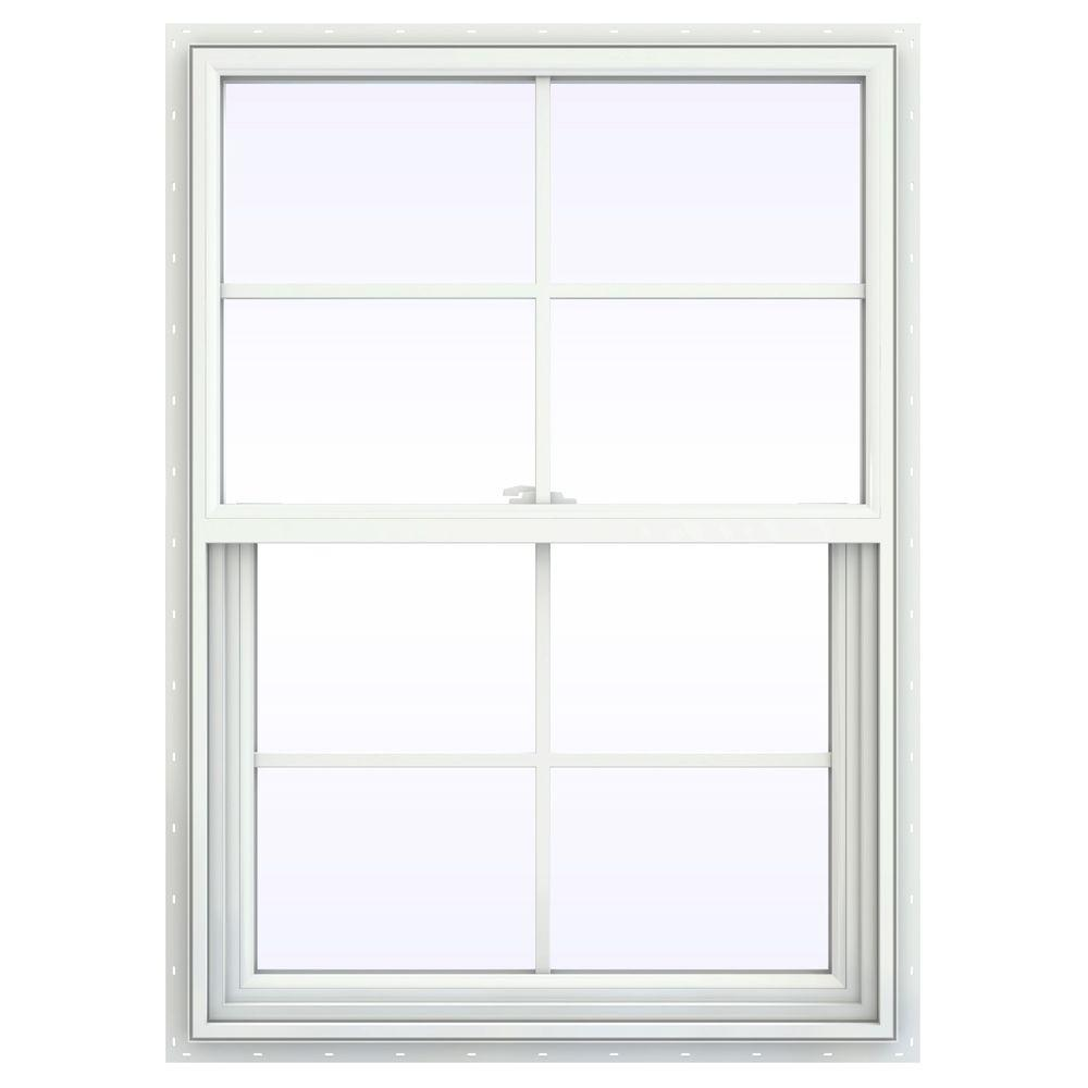 Jeld wen 29 5 in x 47 5 in v 2500 series single hung for Window home depot