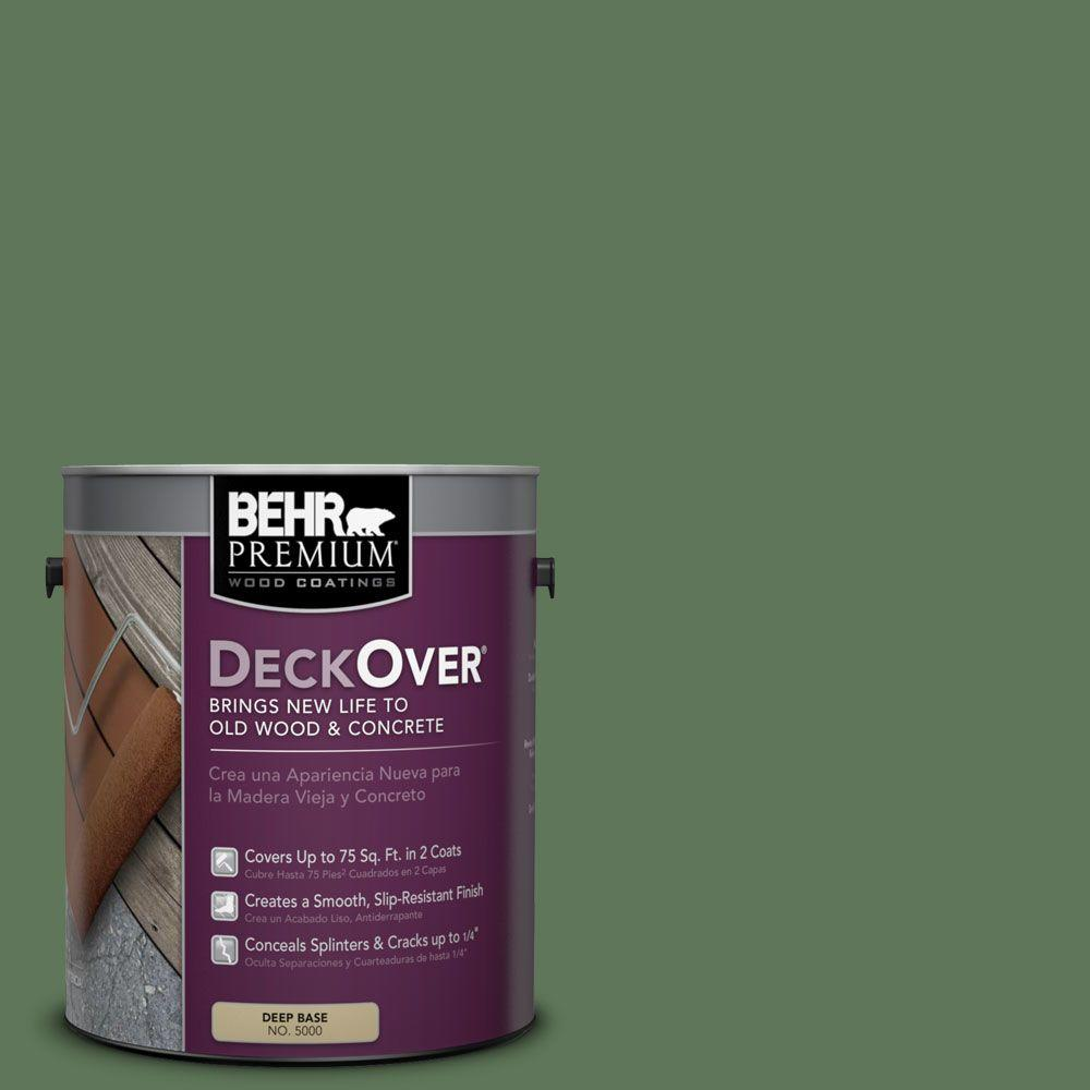 BEHR Premium DeckOver 1 gal. #SC-126 Woodland Green Wood and Concrete Coating