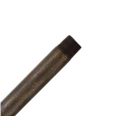Hang-Tru Perma Lock 48 in. Aged Bronze Extension Downrod for 13 ft. ceilings