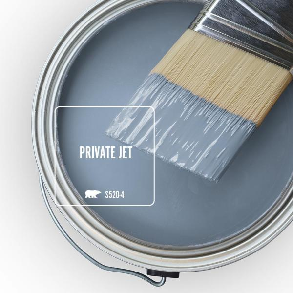 Reviews For Behr Marquee 1 Gal S520 4 Private Jet One Coat Hide Semi Gloss Enamel Interior Paint Primer 345401 The Home Depot