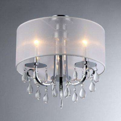 Muses 3-Light Chrome Chandelier with Shade