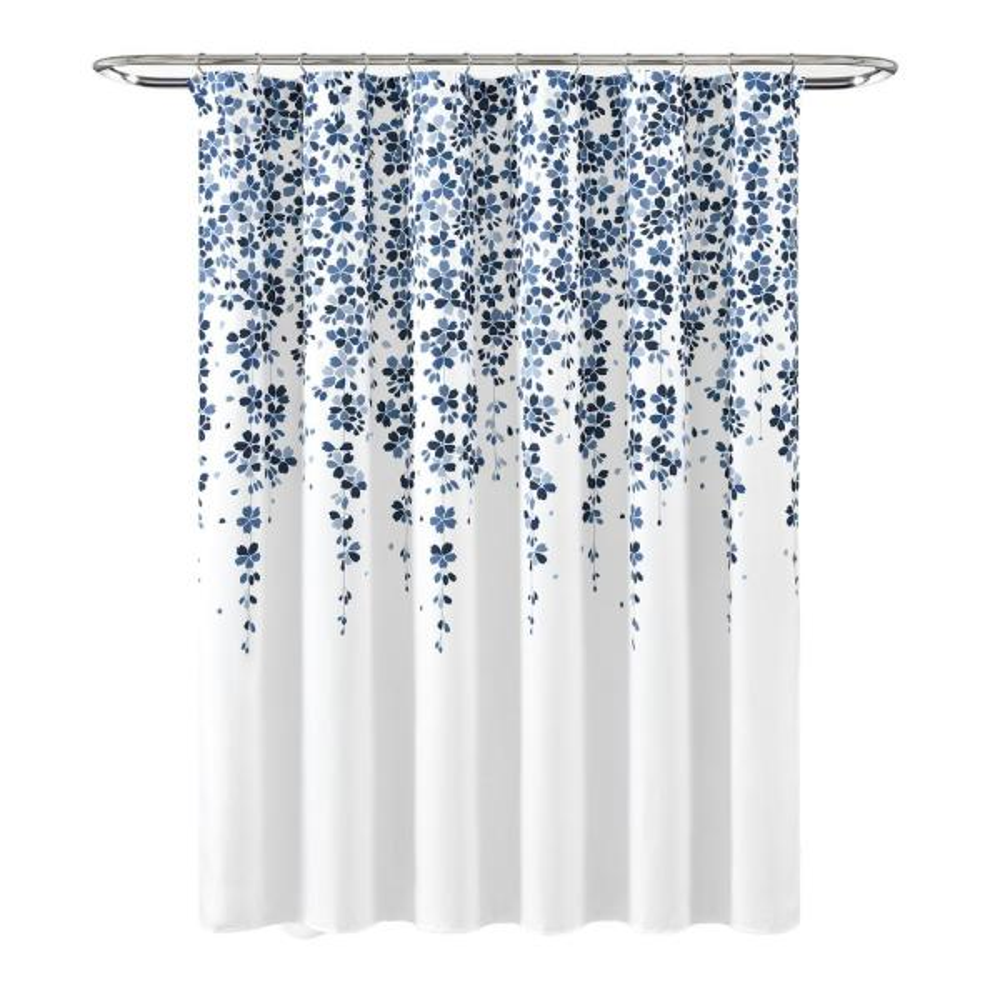 Weeping Flower Shower Curtain Navy/Blue Single 72X72