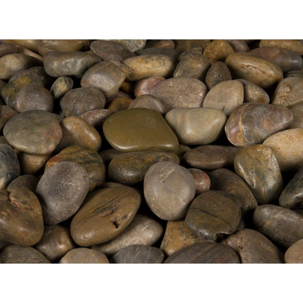 MSI 0.5 cu. ft. 3 cm to 5 cm Imperial Beach River Rock approx. 40 lbs. Bag (24 cu. Ft. / 42 Bags / Pallet)