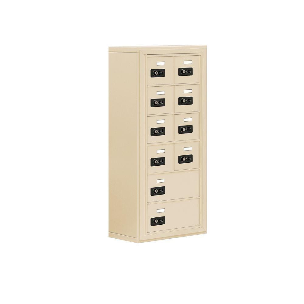 19000 Series 17.5 in. W x 36.5 in. H x 9.25 in. D 8 A/2 B Doors S-Mount Resettable Locks Cell Phone Locker in Sandstone