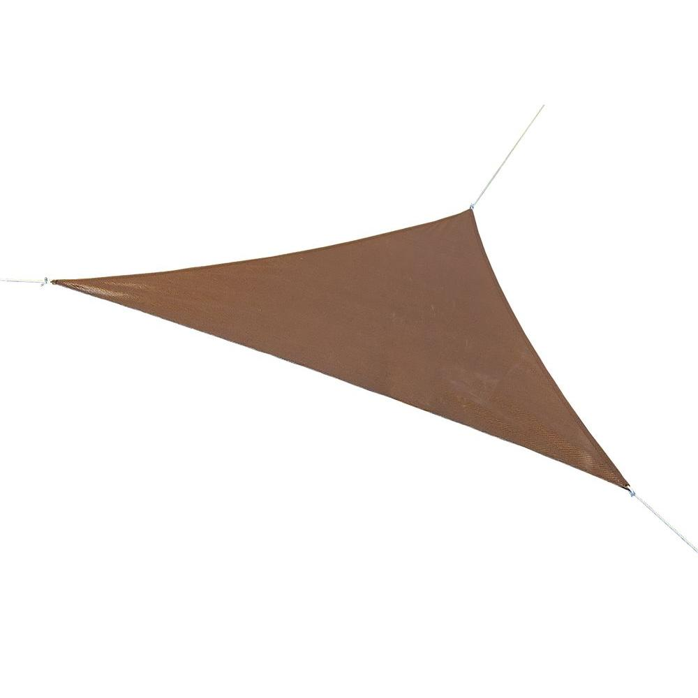 16.5 ft. x 16.5 ft. Mocha Triangle Shade Sail