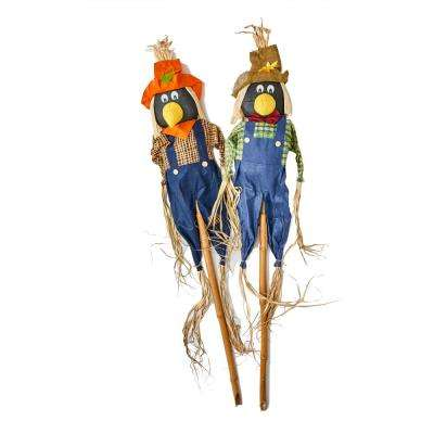 5 ft. Crow on Pole (Set of 2)
