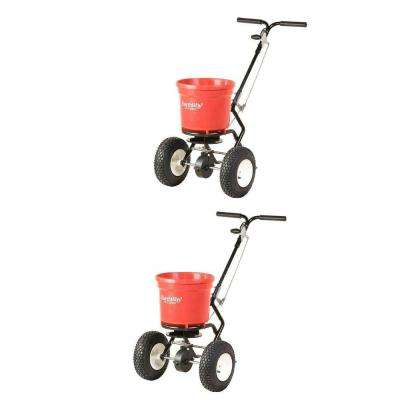 50 lbs. Commercial Broadcast Walk Behind Garden Seed Spreader (2-Pack)