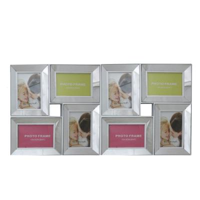 27.5 in. White Trimmed Glass Encased Photo Picture Frame Collage Wall Decoration