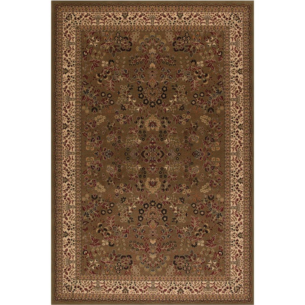 Concord Global Trading Persian Classics Sarouk Green 5 ft. 3 in. x 7 ft. 7 in. Area Rug